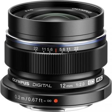 Olympus M.Zuiko Digital ED 12mm f/2 Lens - Black
