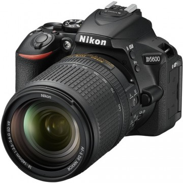 Nikon D5600 Digital SLR with 18-140mm VR Lens - Black