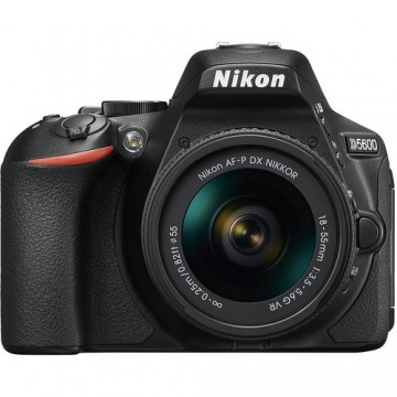 Nikon D5600 Digital SLR with 18-55 AF-P VR Lens - Black