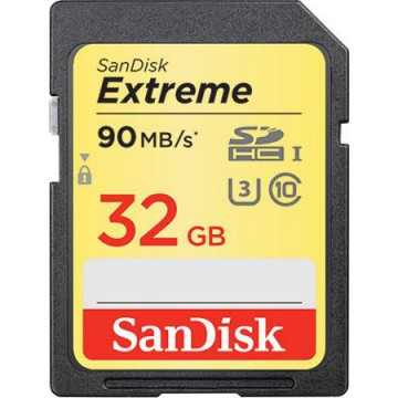 SanDisk 32GB Extreme 90MB/s U3 SDHC Card