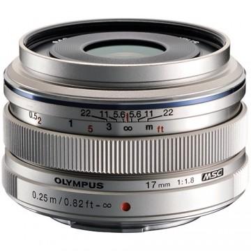 Olympus 17mm f1.8 M.ZUIKO Digital Lens - Silver