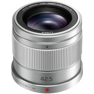 Panasonic LUMIX G 42.5mm f/1.7 ASPH. POWER O.I.S. Lens Silver