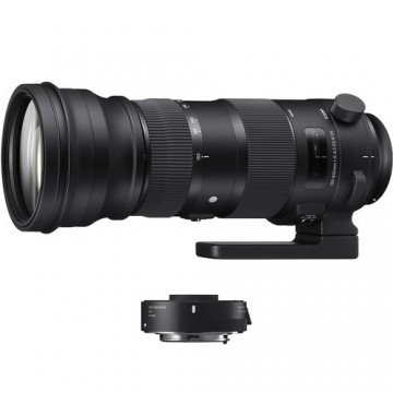 Sigma 150-600mm f/5-6.3 DG OS HSM Sports Lens and TC-1401 1.4x Teleconverter Kit for Canon Fit