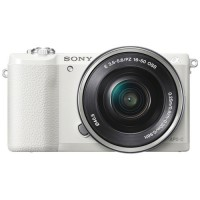 Sony Alpha a5100 Mirrorless Digital Camera with 16-50mm Lens - White
