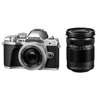 Olympus OM-D E-M10 Mark III Incl 14-42mm EZ Lens and 40-150mm Lens - Silver