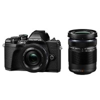 Olympus OM-D E-M10 Mark III Incl 14-42mm EZ Lens and 40-150mm Lens - Black