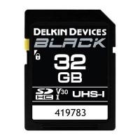 Delkin BLACK 32GB UHS-I V30 U3 90MB/s SDHC Card
