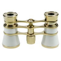 Danubia Opera 3x24mm Pearl and Gold Binoculars