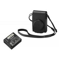 Panasonic Black Leather Case & DMW-BLG10E Battery For Lumix TZ100