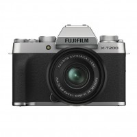 Fujifilm X-T200 Digital Camera with XC 15-45mm Lens - Silver